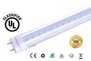 HISUN LED T8 4ft 18W Universal 6000K Two Side End Powered Works without ballast Tube Bulb