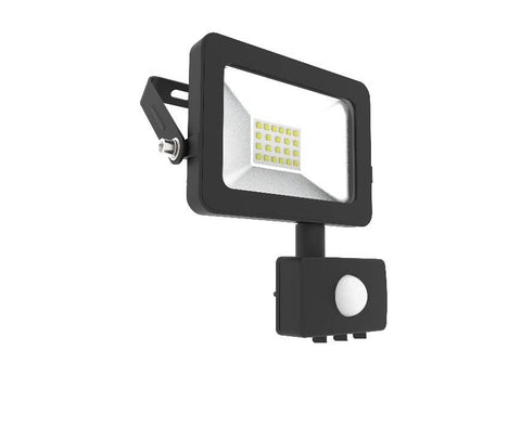 10W Flood Light with PIR Motion Sensor, 6000K, 1100 Lumens