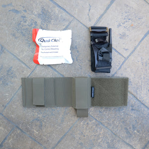 Tourniquet Ankle Band with Tourniquet and Combat Gauze now available as a kit!