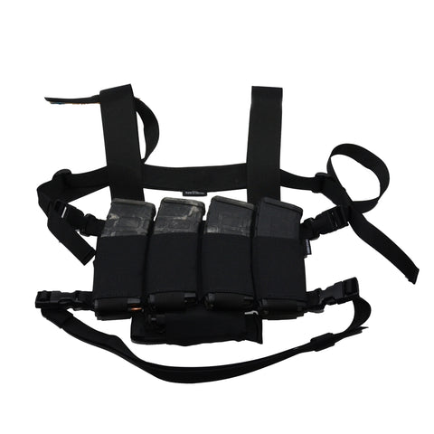 black underground partisan chest rig panel with standard harness