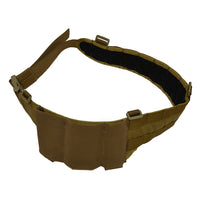 enhanced war belt in coyote brown