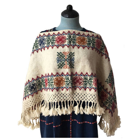 cream poncho 5 colour design