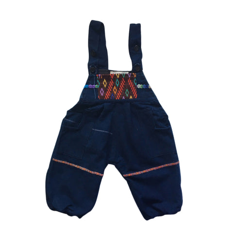 huipil and indigo 6m-2 years unisex overalls