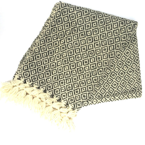foot pedal loomed snug one hundred percent lambswool shawl to keep the winter chills out this winter