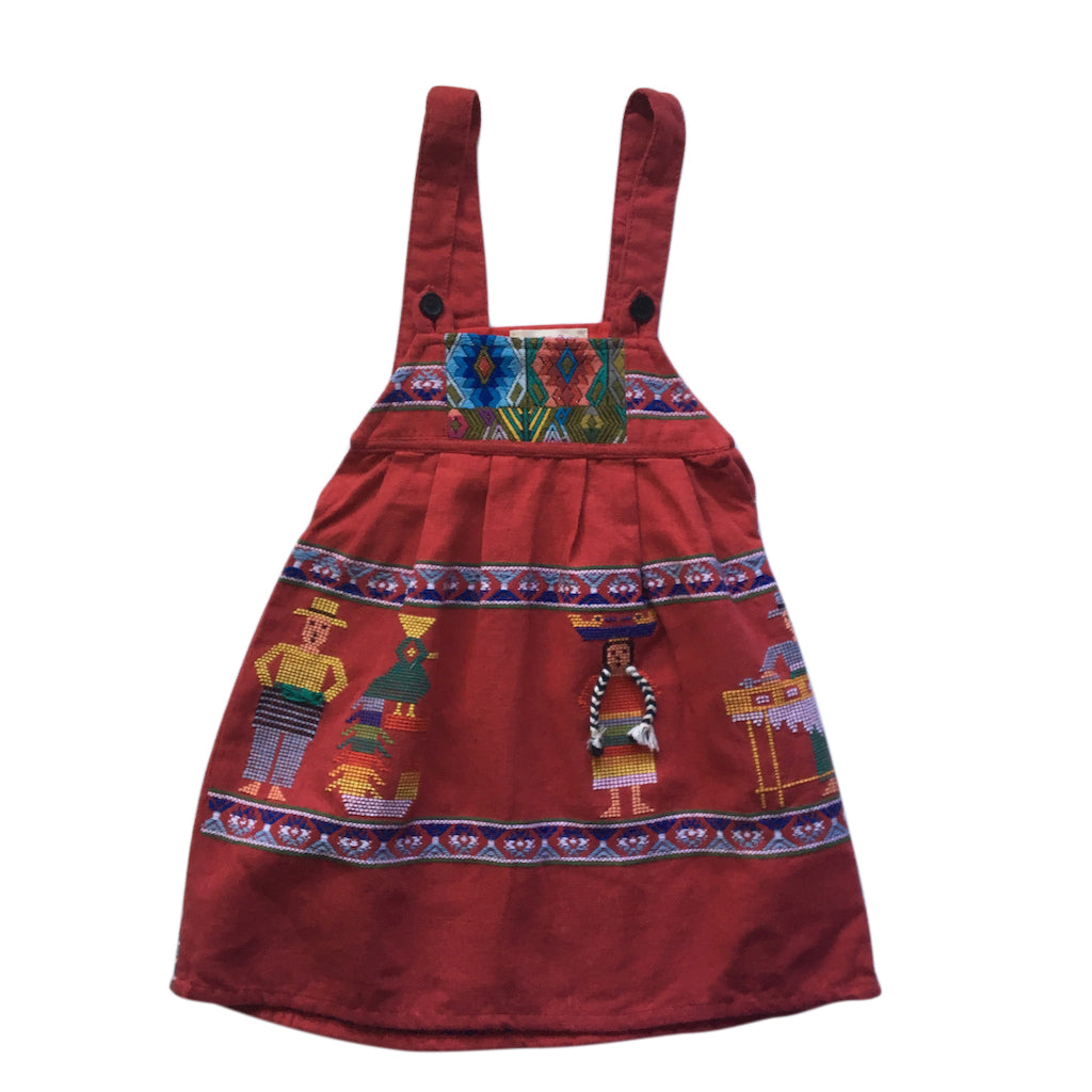 plaits pinafore children's dress 4-6 years