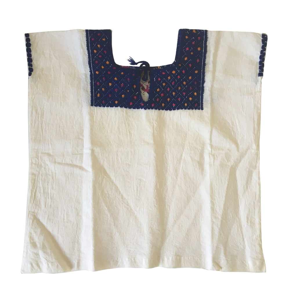 cotton hand embroidered blouse children's size 0-1yrs