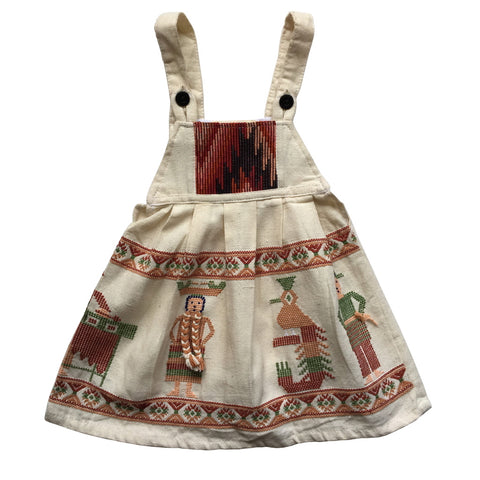 plaits pinafore children's dress 0-2 years