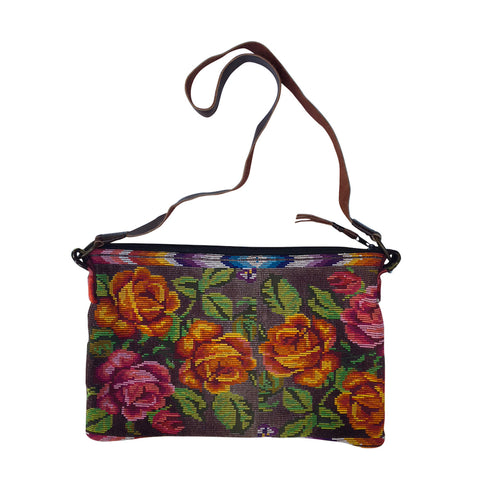 bag vintage huipil oblong old roses