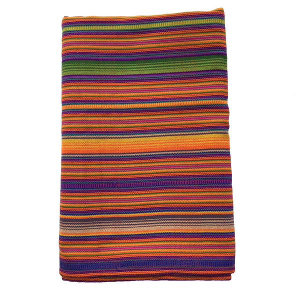 multicolour stripe single bedspread