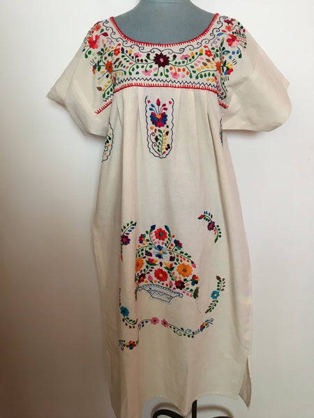 frida dress with basket of flowers large