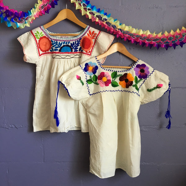 embroidered cotton children's shirt 4-8 years
