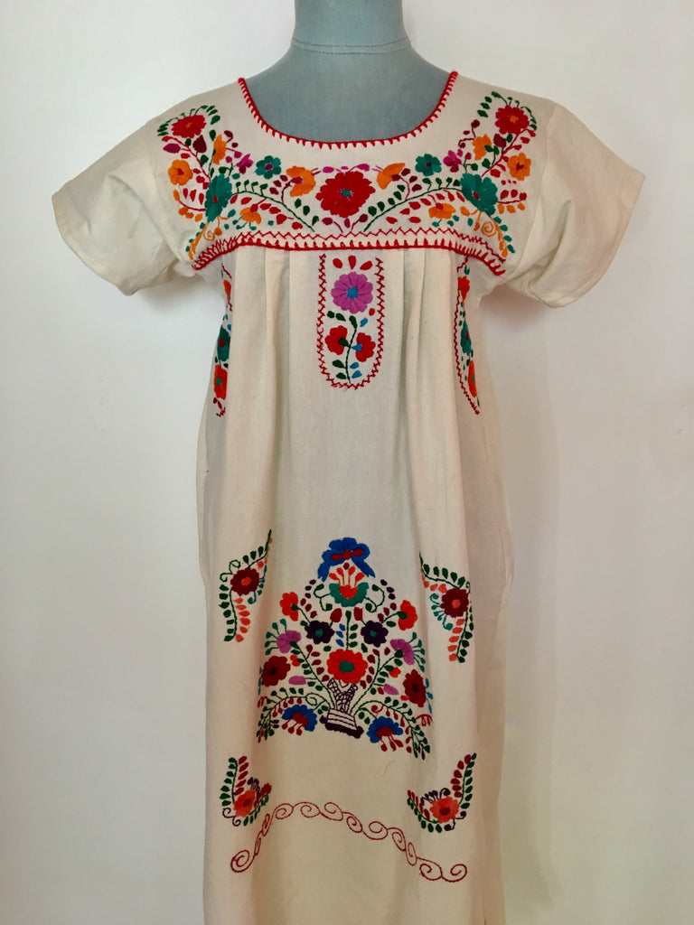 frida dress with basket of flowers small