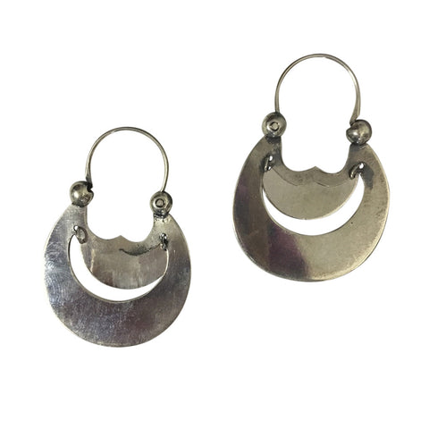 earrings half moon hoops