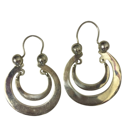 earrings half moon fine