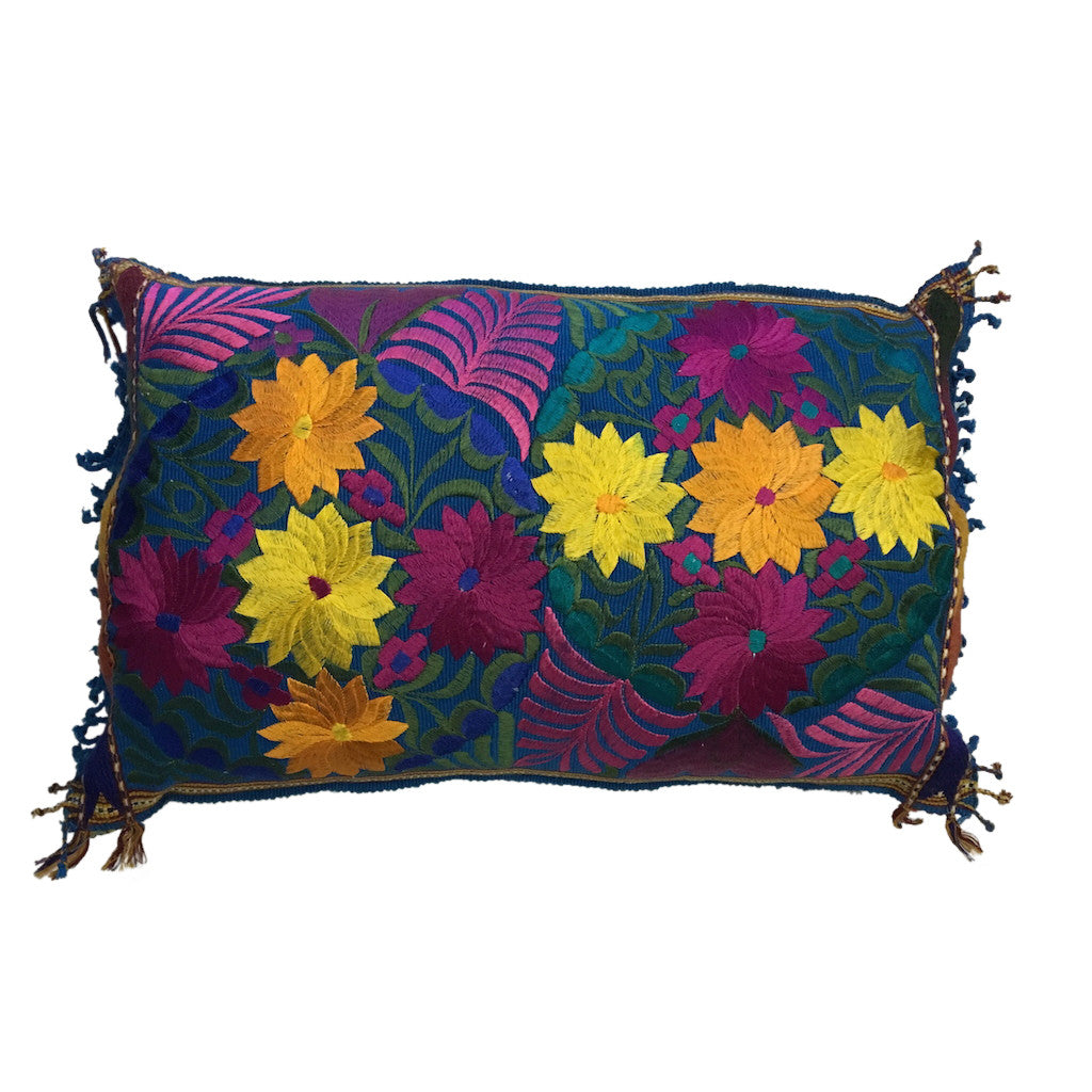embroidered cushion oblong royal