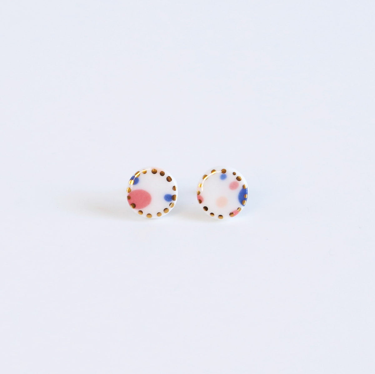 Party mix, circle studs - gold dots