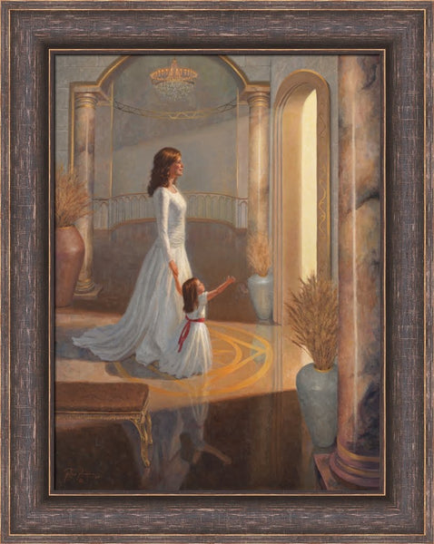 Families Can Be Together for the Eternities - Framed 21x28