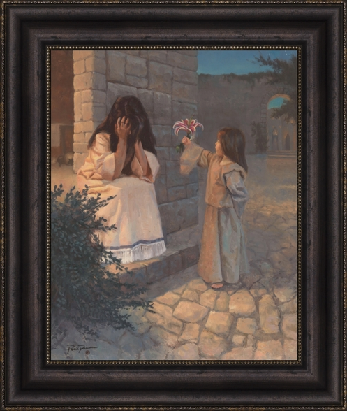Become As a Little Child - Framed 16x20