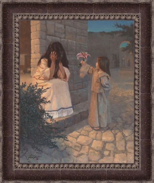 Become As a Little Child - Framed 24x30
