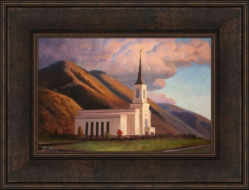 Star Valley Wyoming Temple - Framed 10x15