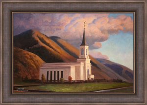 Star Valley Wyoming Temple - Framed 20x30