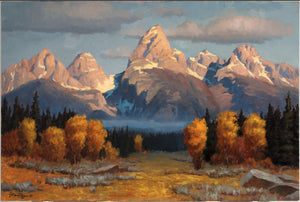 The Tetons - Framed 20x30