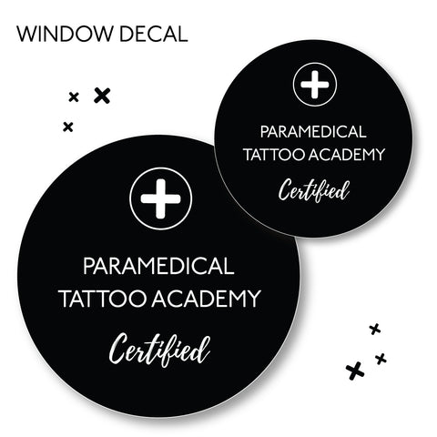 *PRINTED* PARAMEDICAL CERTIFIED WINDOW DECAL