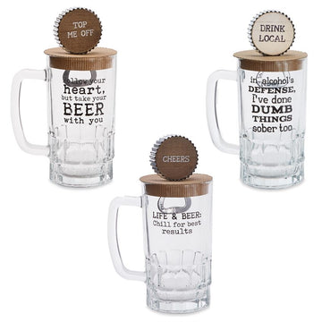 Pint Glass + Bottle Opener