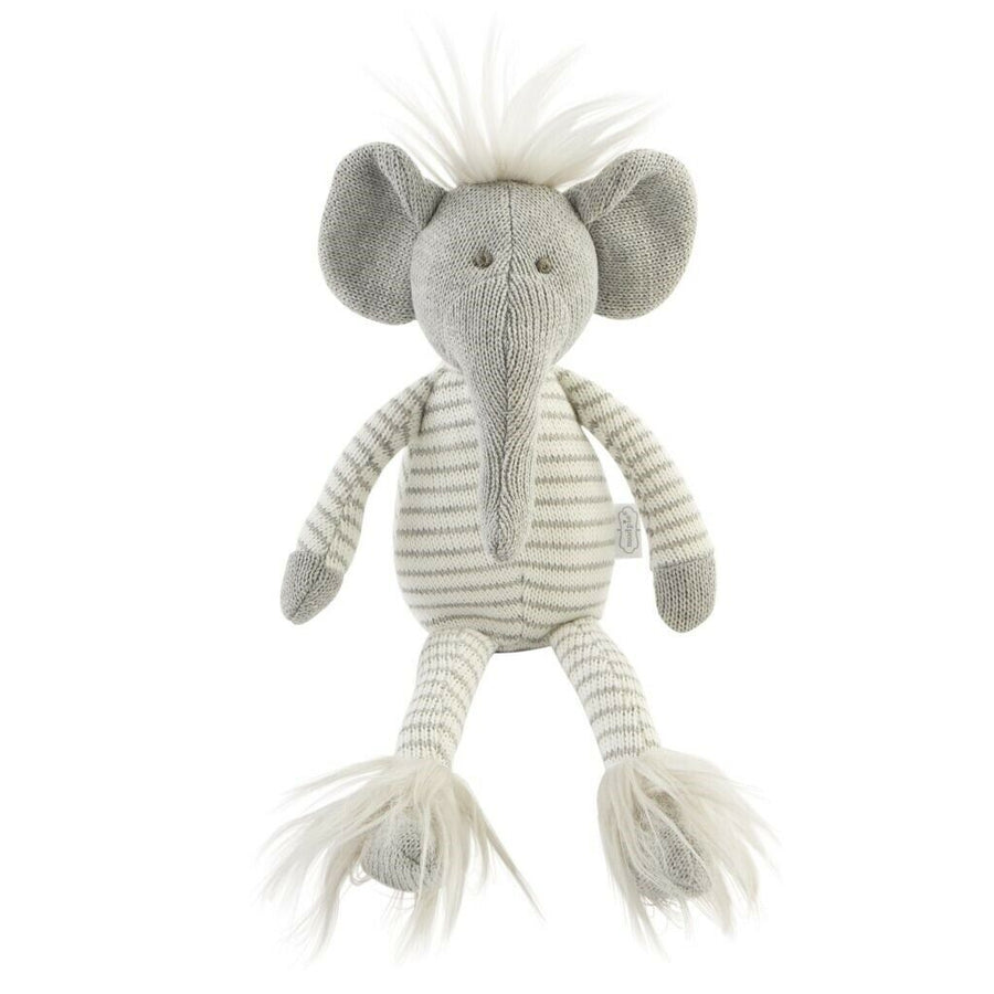 Baby Stuffed Animal Sweater Knit Elephant Plush Toy