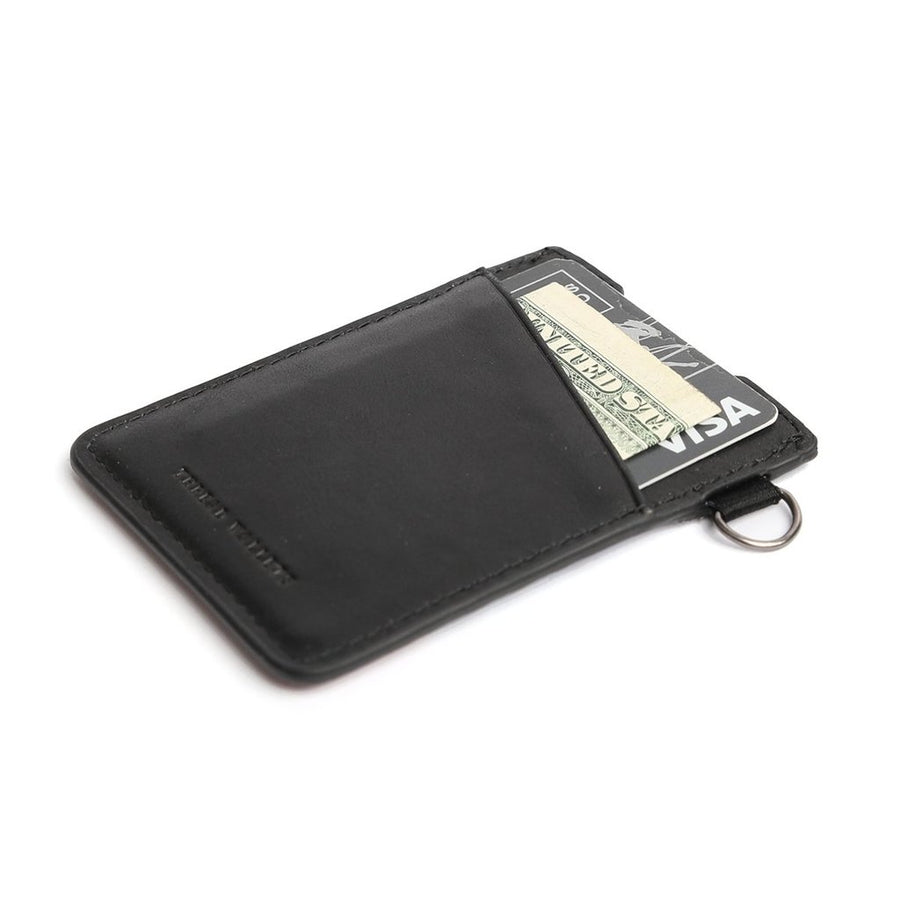 Thread Wallet- Vertical Card Holder BLACK