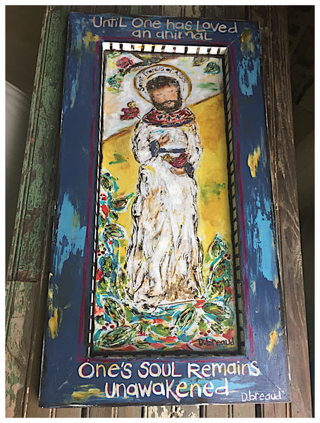 ST. FRANCIS OF ASSISI EMBELLISHED CANVAS GICLEE