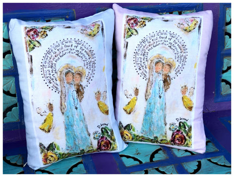 MOTHER OF ANGELS THROW PILLOW