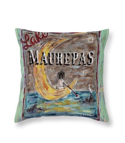 LAKE MAUREPAS (MOON) throw pillow