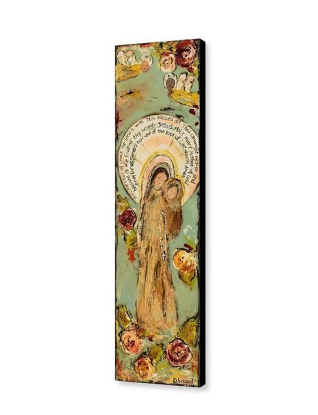 Blessed Mother and Jesus CANVAS GICLEE