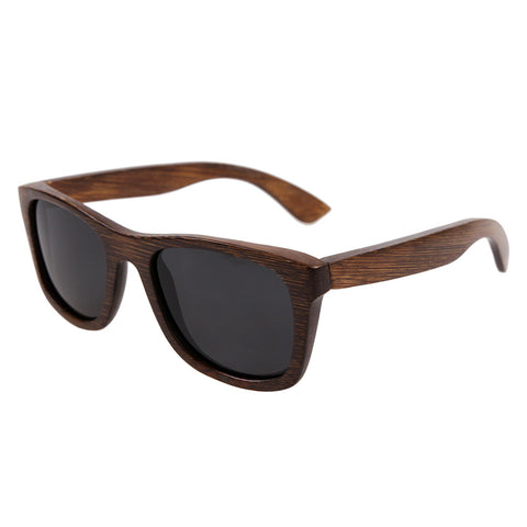 Brown wooden sunglasses
