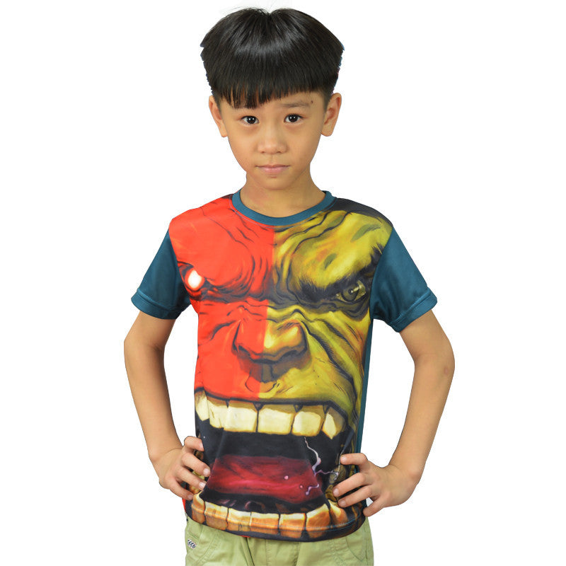 Kids Unique Marvel Captain America T Shirts Super Hero Boys T-shirt