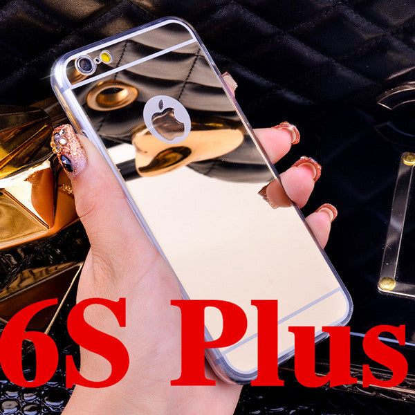 Deluxe Electroplating Mirror TPU Clear Soft Phone Case Cover for iPhone 4 4S 5 5S 6S 6 7 Plus Case Cover - awashdress