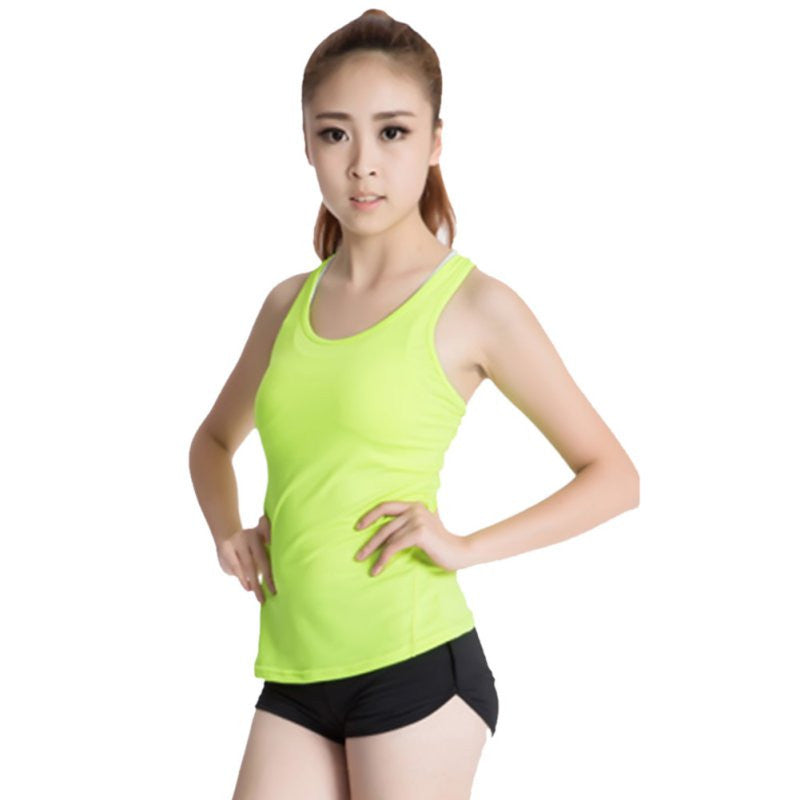 Quick-Drying Women Sports Vest Tights PRO Running Yoga Fitness Vest