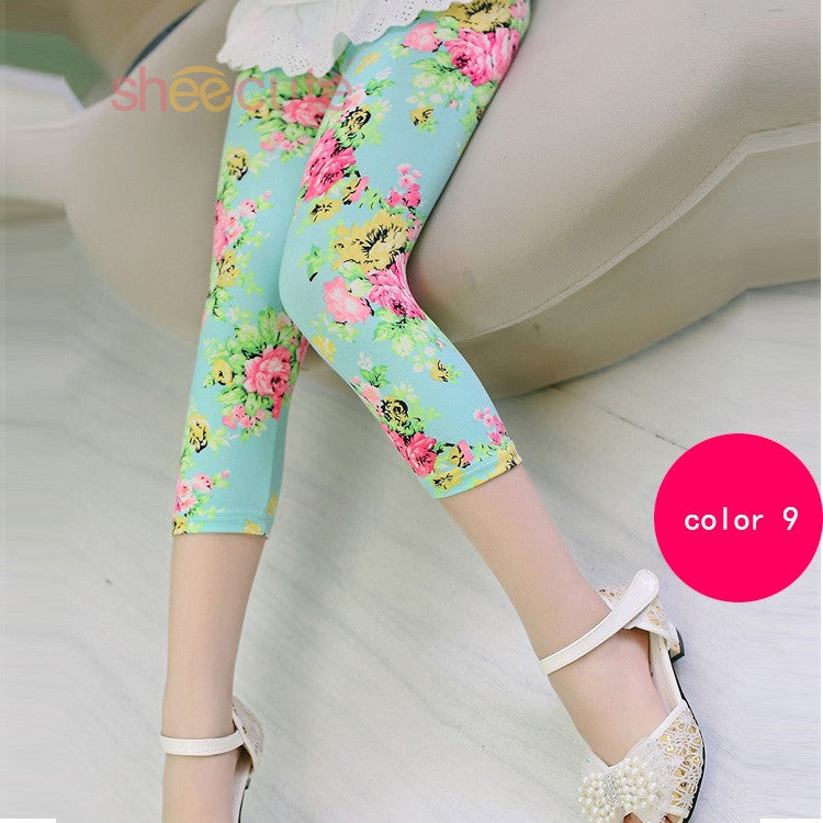 leggings print flowers