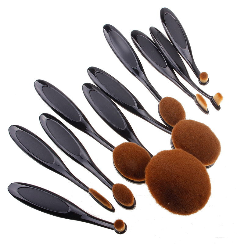 10 Pcs Professional Makeup Brushes Synthetic Rose Gold