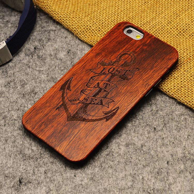 Thin Bamboo Wood Phone Case For Iphone 5 5S 6 6S 6Plus 6S Plus 7 7Plus