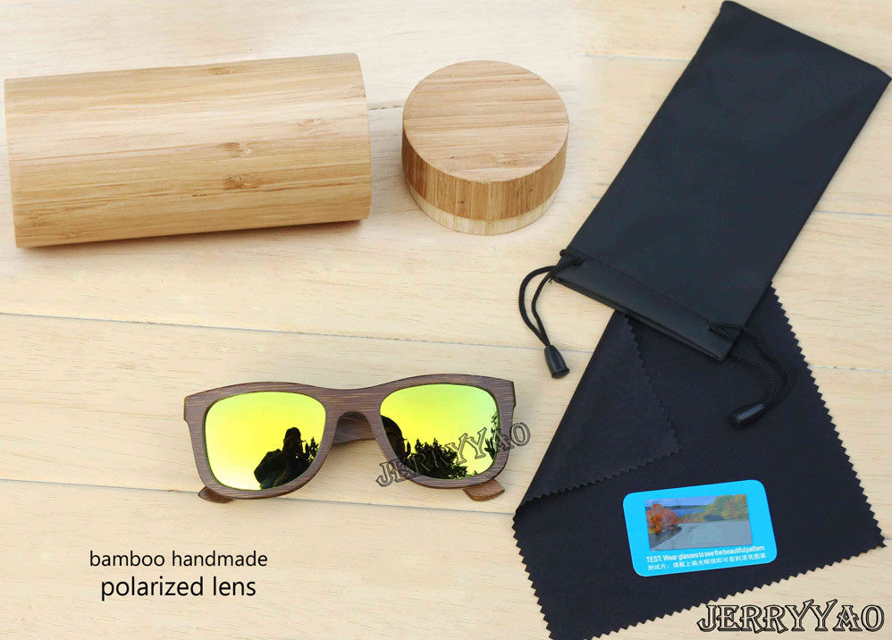 Brown wooden sunglasses - awashdress