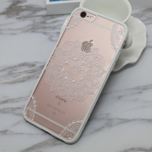 Sexy Lace Floral Clear Case For iphone 6 6S Plus 6Plus