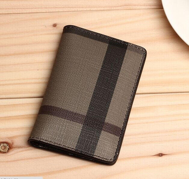 3 Colors Classic Plaid Card ID Holder - awashdress