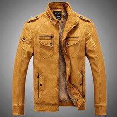 winter fashion men's leather jacket