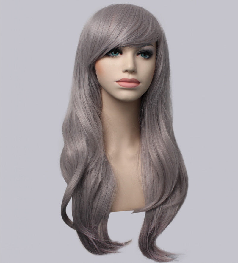 long curly 12colors synthetic wig