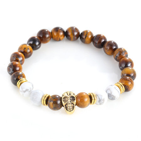 Gold Color Skull Buddha Bead
