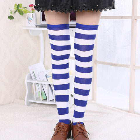 Striped Thigh High Stocking