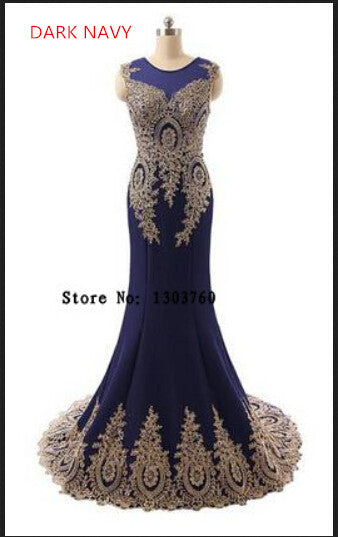 Mermaid Long Black Formal Evening Gowns