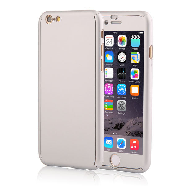 Full Body Coverage Phone Cases for iPhone 5 5s SE 6 6s 7 Plus Hard PC Protective Cover Free Clear Screen Film